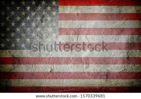 Grunge USA Flag background texture