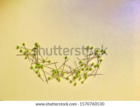 Needle material green background material #1570760530