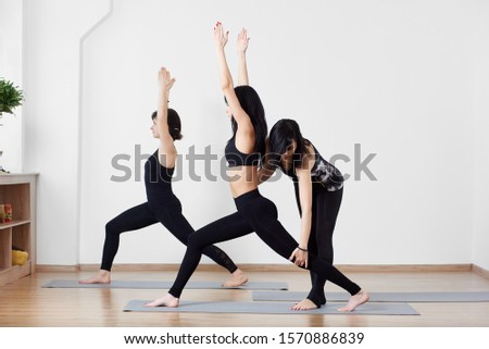 yoga extended triangle pose stock photo 39661453