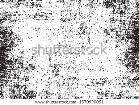 Scratched Grunge Urban Background Texture Vector. Dust Overlay Distress Grainy Grungy Effect. Distressed Backdrop Vector Illustration. Isolated Black on White Background. EPS 10. Royalty-Free Stock Photo #1570990051