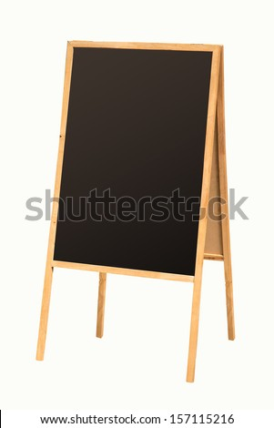 Blank sandwich board isolated on white background