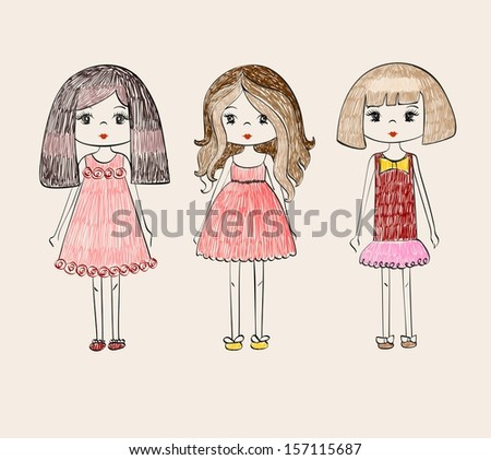 pretty fashion  girl #157115687