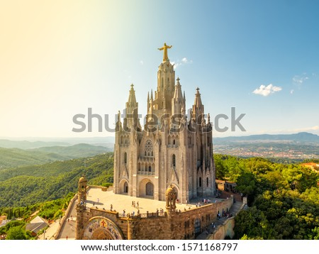 Temple of the Sacred Heart of Jesus at Mount Tibidabo, Barcelona, Spain #1571168797