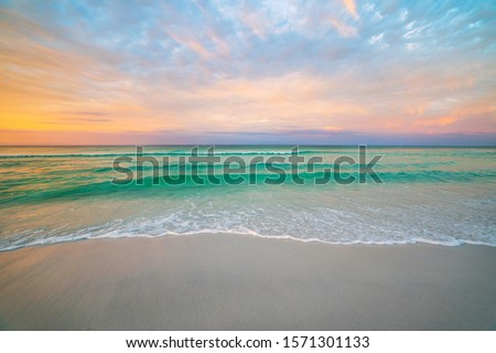 Destin Florida during morning sunrise Royalty-Free Stock Photo #1571301133