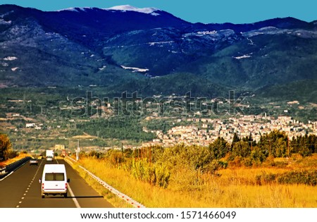Highway at Greece. Highways in Greece are generally organized so that the odd-numbered highways are of north-south alignment and even numbered highways are of east-west alignment. #1571466049