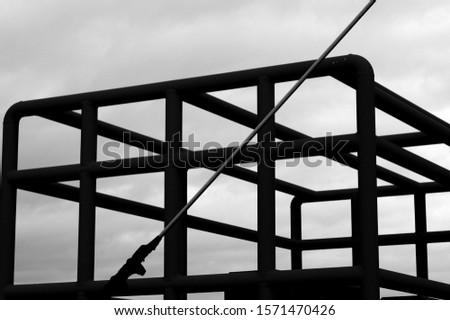 Construction of metal steel framework outdoors #1571470426