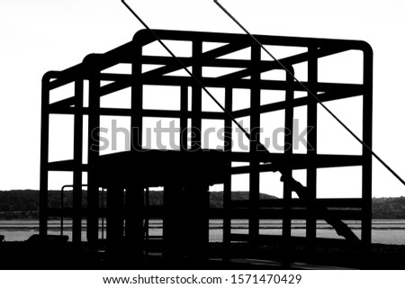 Construction of metal steel framework outdoors #1571470429