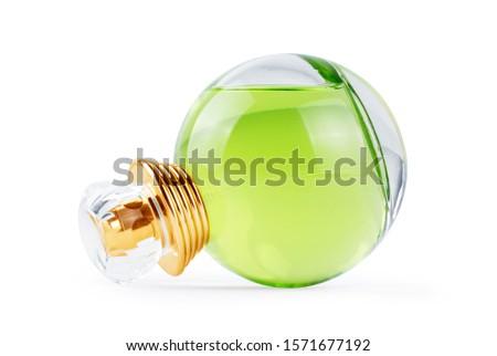 Perfume spray bottle on white background #1571677192
