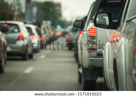 traffic jam on road rush hour #1571810023