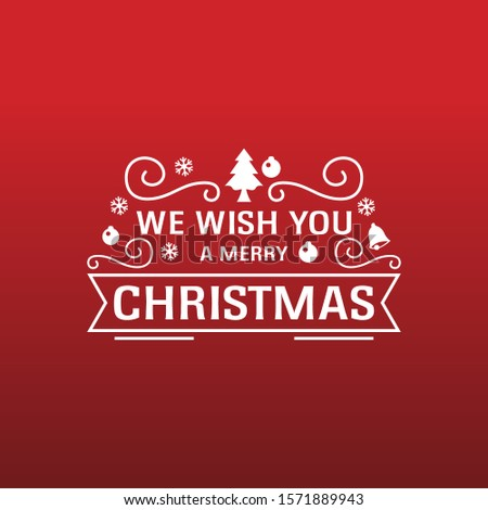 We wish you a Merry Christmas text. Calligraphy text for greeting cards. #1571889943