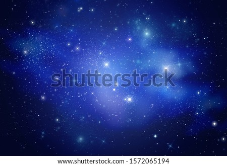 Beautiful space galaxy at night, astronomy concept