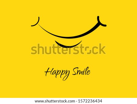 World smile day banner. Greeting design on yellow background. Vector illustration