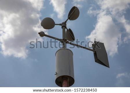 meteorology stuffs to monitor climatic  conditions Royalty-Free Stock Photo #1572238450