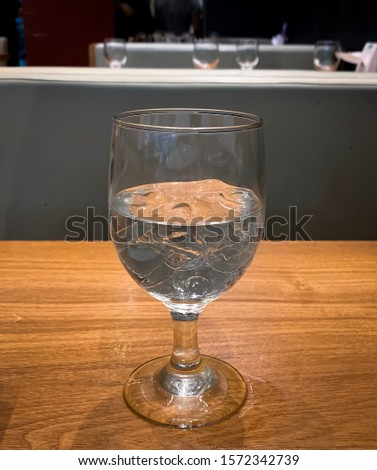 A glass of ice cold water. #1572342739