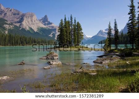Maligne Lake and Spirit Island, Jasper National Park, Alberta, Canada #1572381289