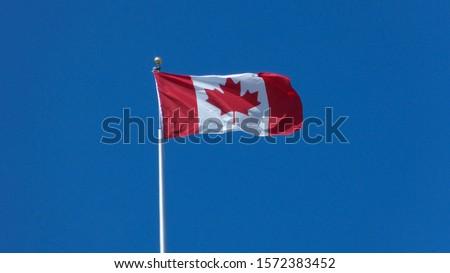 Canadian Flag, Lake Louise, Banff National Park, Alberta, Canada #1572383452