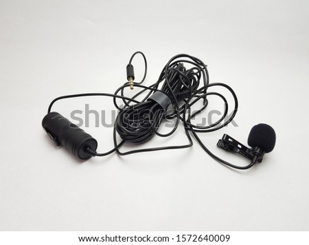 Black Lavalier Michrophone Lav Mic