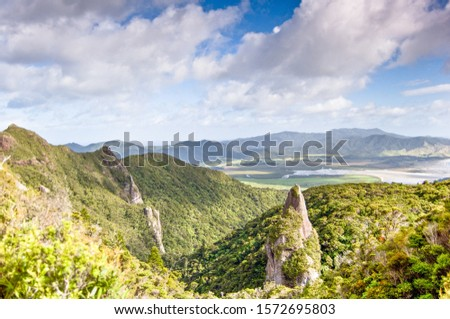 Mountain range at Great Barrier Island #1572695803