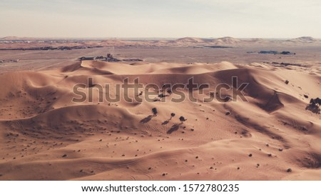 Al Ain Desert and Sand Dunes Nearby Urban Area Royalty-Free Stock Photo #1572780235