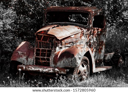 Forgotten old rusted Chevy truck #1572805960