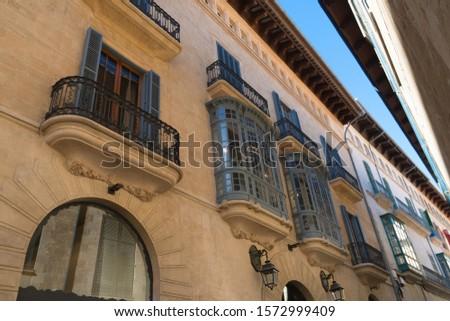 spain town street houses facades #1572999409