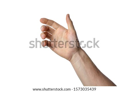 gesture of the hand for holding smartphone or bottle #1573035439
