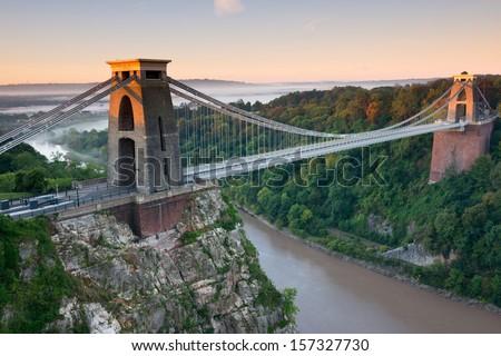 Clifton Suspension Bridge, Bristol, UK Royalty-Free Stock Photo #157327730