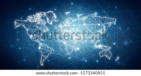 2d illustration world map abstract background #1573340851