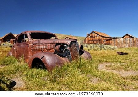 Bodie: the ghost old town in California Royalty-Free Stock Photo #1573560070