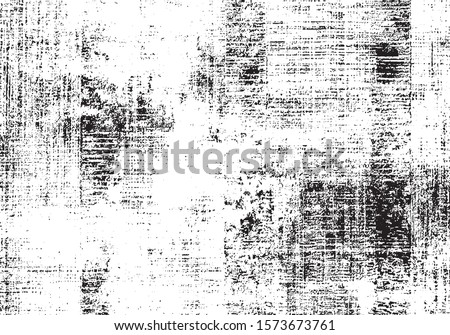 Rough black and white texture vector. Distressed overlay texture. Grunge background. Abstract textured effect. Vector Illustration. Black isolated on white background. EPS10. #1573673761