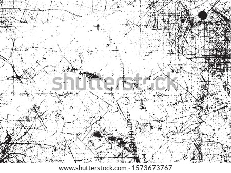 Scratched Grunge Urban Background Texture Vector. Dust Overlay Distress Grainy Grungy Effect. Distressed Backdrop Vector Illustration. Isolated Black on White Background. EPS 10. Royalty-Free Stock Photo #1573673767