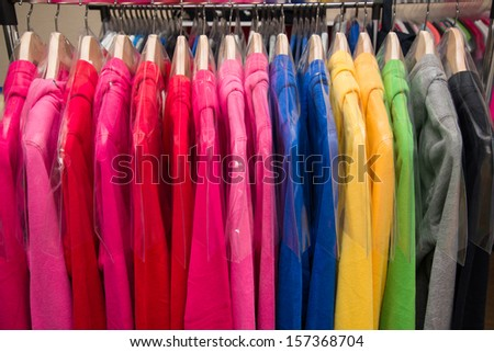 fashion clothes on hangers #157368704