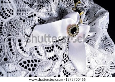 wedding underwear white with gem #1573700455