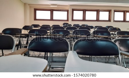 college classroom for college student in Indonesia with basic chairs #1574020780