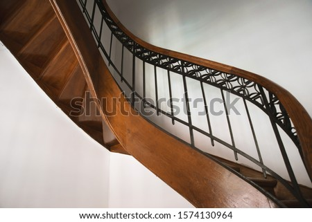 Photo of vintage stairs case, of some hotel or luxury residence  #1574130964