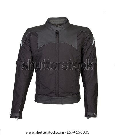 Leather jacket fashionable for men bikers with modern design and cuts #1574158303