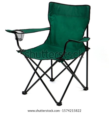 folding camp chair isolated on white background. #1574215822