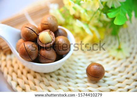 Big set of sketchy doodles of the most popular nuts and seeds: almond, peanut, walnut, pistachio, hazelnut. Collection of colored hand drawn elements isolated on white. Colorful vector illustration. . #1574410279