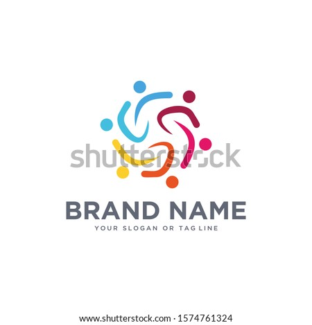 a team of abstract people with colorful vector design templates #1574761324