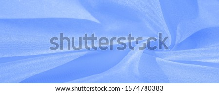 Texture, background, pattern, silk blue fabric. Crepe satin on the back is an excellent fabric for design, on the one hand it has a satin finish, and on the other - crepe, which makes it reversible, #1574780383