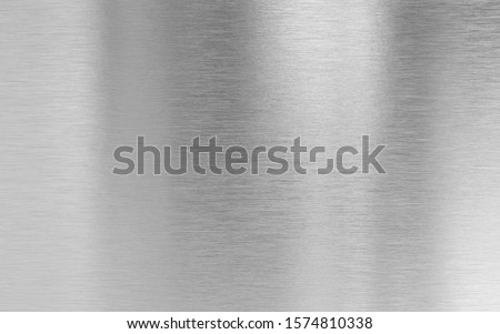 Real metal aluminum fine brushed texture #1574810338