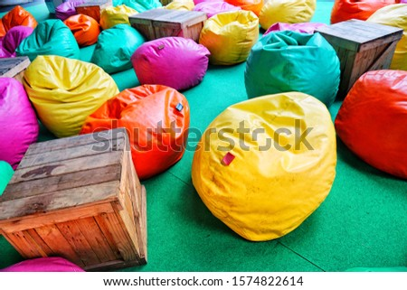 Colorful cushions on the floor #1574822614
