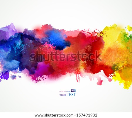 Bright watercolor stains