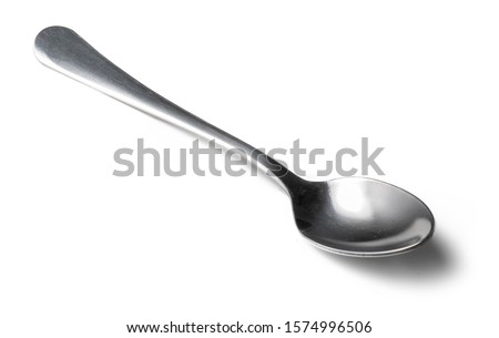 Stainless cutlery spoon isolated on white background #1574996506