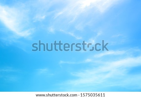 blue sky with beautiful natural white clouds Royalty-Free Stock Photo #1575035611
