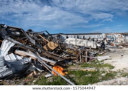 Hurricane Dorian Destruction in the Bahamas #1575044947