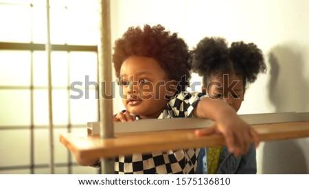 Portrait of happy little smile african kids #1575136810