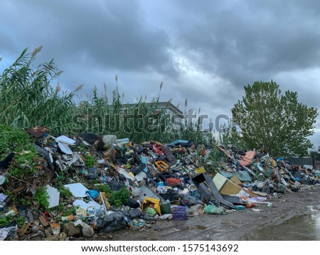 The Ciambra district of Gioia tauro, inhabited by gypsy families, is one of the most degraded places in Italy. Royalty-Free Stock Photo #1575143692