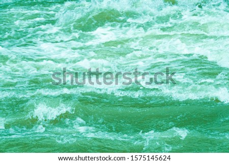 rough ocean waves, stormy sea surf, fast flowing mountain river #1575145624