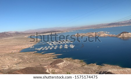 Lake Mead National Recreation Area in Boulder City, Nevada. Lake Mead National Recreation Area is a U.S. National Recreation Area located in southeastern Nevada and northwestern Arizona. #1575174475